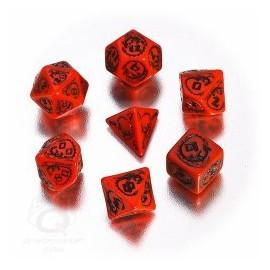 Red & Black Dragons Dice Set (7)