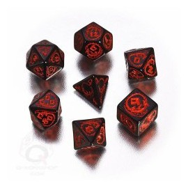 Black & Red Dragons Dice Set (7)