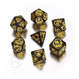 Black & Yellow Dragons Dice Set (7)