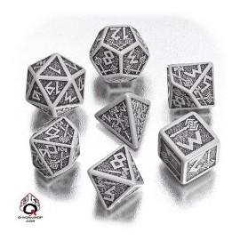 Gray & Black Dwarven Dice set (7)