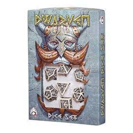 Beige & Black Dwarven Dice set (7)
