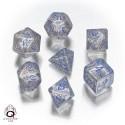 Transparent & Blue Elvish Dice Set(7)