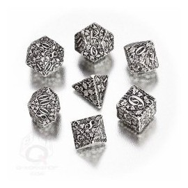 White & Black Forest 3D Dice set (7)