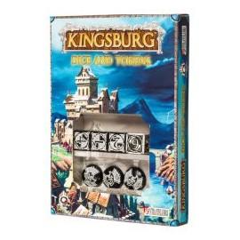 Black & White Kingsburg Dice and Tokens Set (4+3)
