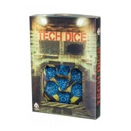 Blue & Black Tech Dice (7)