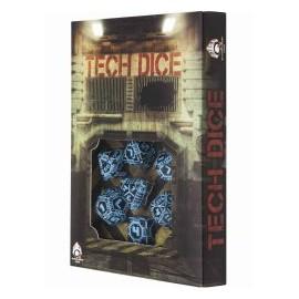 Black-Blue Tech Dice Set (7)