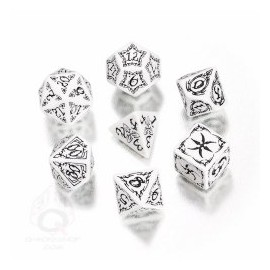 White & Black Tribal Dice set (7)