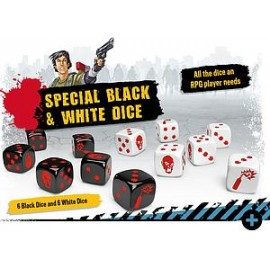 Zombicide 2nd Edition Special Black and White Dice