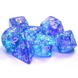 Borealis Polyhedral Sky Blue/White Luminary 7