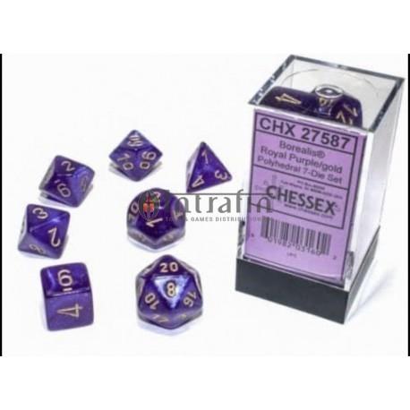 Borealis Polyhedral Royal Purple/Gold Luminary 7