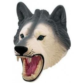 Flocked Hand Puppet Wolf