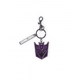 HASBRO - TRANSFORMERS - DECEPTICONS FACE METAL KEYCHAIN