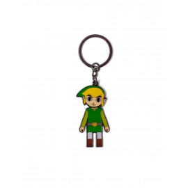 ZELDA - LINK WITH MOVEABLE HEAD METAL KEYCHAIN