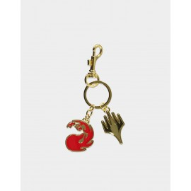 MAGIC: THE GATHERING - RED MANA METAL KEYCHAIN