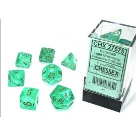 Borealis Polyhedral Light Green/Gold Luminary 7