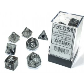 Borealis Polyhedral Light Smoke/Silver Luminary 7