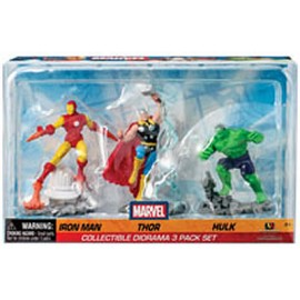 Marvel - Iron Man, Thor and Hulk -Set 3 figures 7cm