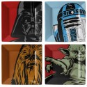 Star Wars - Plate Set - Iconic Character Graphics set of 4
