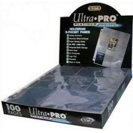 9-Pocket Pages Platinum (100) (CODE 83423)