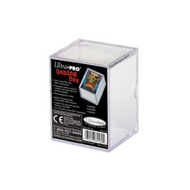 2-piece 100 count clear slide storage box