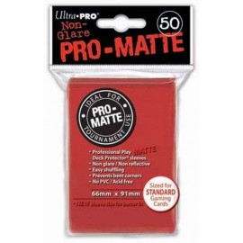 Pro Matte Standard Sleeves Red Display (12x50)