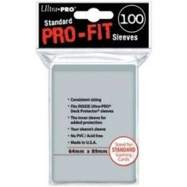 Pro Fit Standard Sleeves Clear (100)