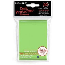 Standard Sleeves Lime Green Display (12x50)