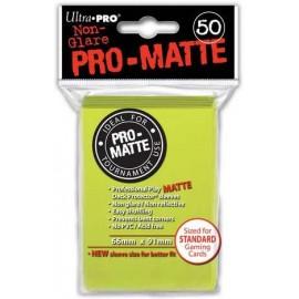 Pro Matte Standard Sleeves Bright Yellow Display (12x50)