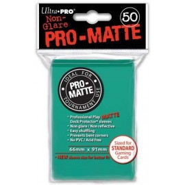 Pro Matte Standard Sleeves Aqua Display (12x50)