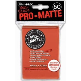 Pro Matte Standard Sleeves Peach Display (12x50)