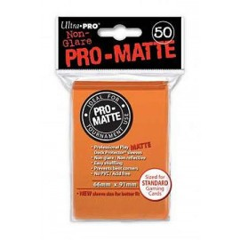 Pro Matte Standard Sleeves Orange Display (12x50)