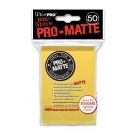 Pro Matte Standard Sleeves Yellow Display (12x50)