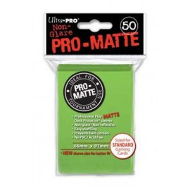 Pro Matte Standard Sleeves Lime Green Display (12x50)
