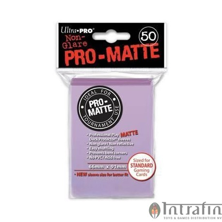 Pro Matte Standard Sleeves Lilac Display (12x50)