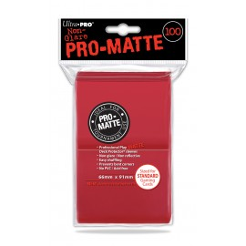 Pro Matte Standard Sleeves Red 100ct