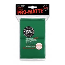 Pro Matte Standard Sleeves Green 100ct