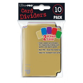 Card dividers (10 pieces, 2 of each color)