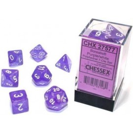 Borealis Polyhedral Light Purple/White Luminary 7