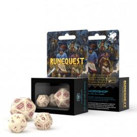 RuneQuest Beige & burgundy Expansion Dice (3)