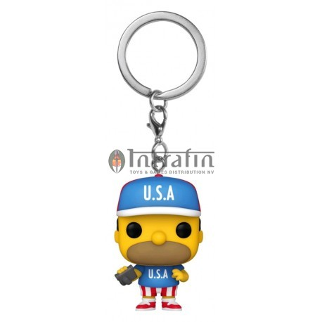 POP Keychains: Simpsons -USA Homer