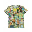 RICK & MORTY - PRINTED ALLOVER MENS T-SHIRT- SIZE S