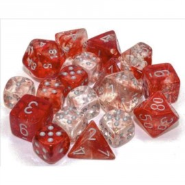 Nebula® Polyhedral Red/silver Luminary 7-Die Set