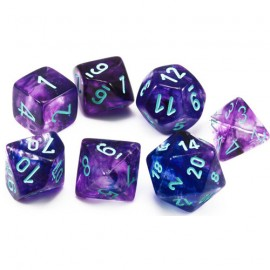 Nebula® Polyhedral Nocturnal/blue Luminary 7-Die Set