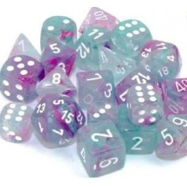 Nebula® 16mm d6 Wisteria/white Luminary Dice Block™ (12 dice)