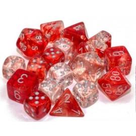 Nebula® 16mm d6 Red/silver Luminary Dice Block™ (12 dice)