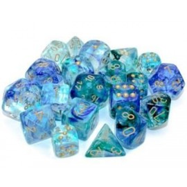 Nebula® 12mm d6 Oceanic/gold Luminary Dice Block™ (36 dice)