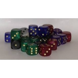 D6 Bag Spots Pearl 12MM Dice (25)