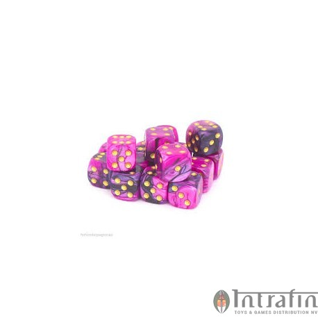 PINK//BLACK 12MM d6 TOXIC DICE set