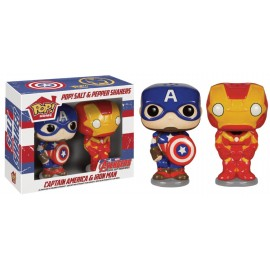 Marvel - Salt & Pepper Set - Captain America & Iron Man