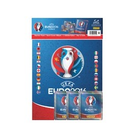Euro 2016 Panini sticker starter set Hardcover Album 3 packs